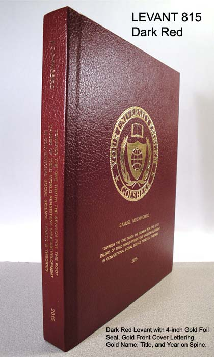 Dissertation Book Binding