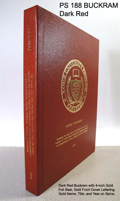 Fabric Hard Cover Phd Book Binding Personal Business Amp Academic Publishingphd Book Binding